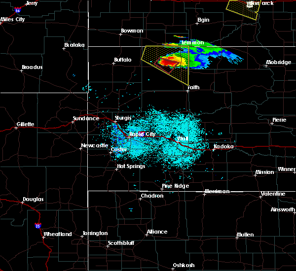 Radar Image for Severe Thunderstorms near Bison, SD at 6/21/2015 7:35 PM MDT