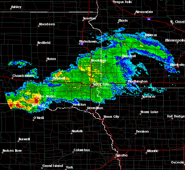 Radar Image for Severe Thunderstorms near St. Charles, SD at 8/9/2019 8:10 PM CDT