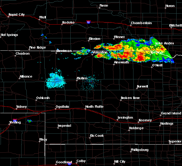 Radar Image for Severe Thunderstorms near Atkinson, NE at 8/9/2019 8:47 PM CDT
