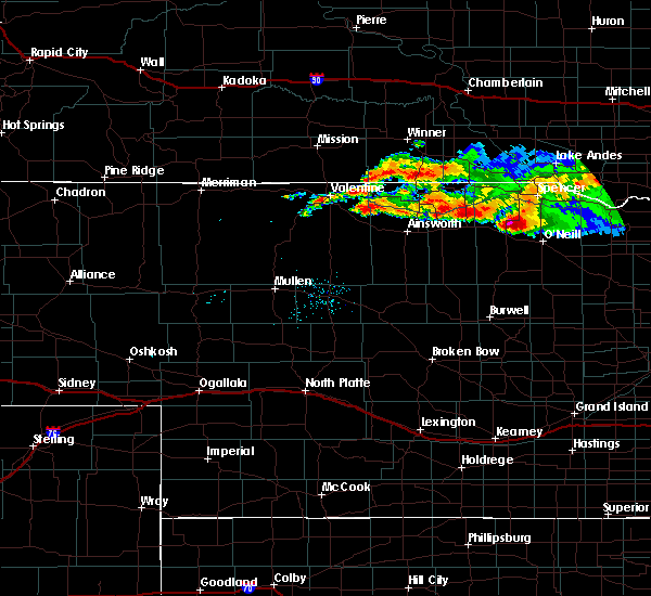 Radar Image for Severe Thunderstorms near Atkinson, NE at 8/9/2019 9:08 PM CDT
