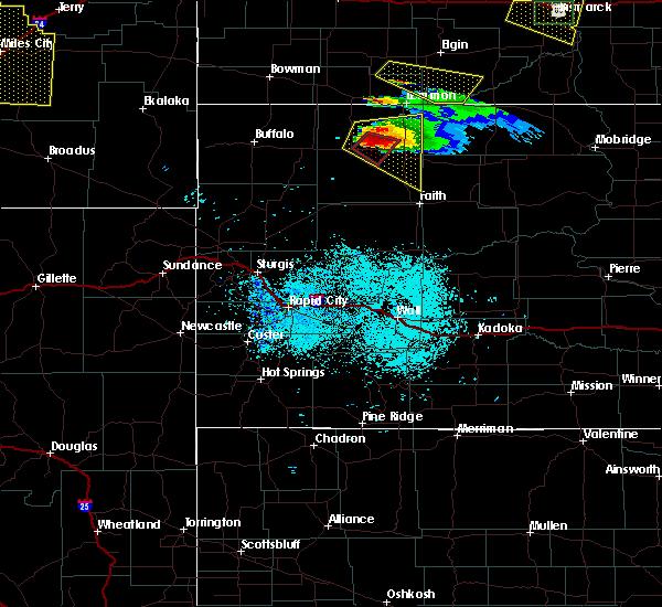 Radar Image for Severe Thunderstorms near Bison, SD at 6/21/2015 7:41 PM MDT