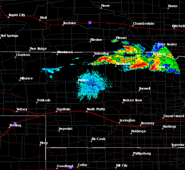 Radar Image for Severe Thunderstorms near Atkinson, NE at 8/9/2019 9:43 PM CDT