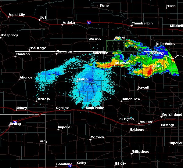 Radar Image for Severe Thunderstorms near Ainsworth, NE at 8/9/2019 10:25 PM CDT