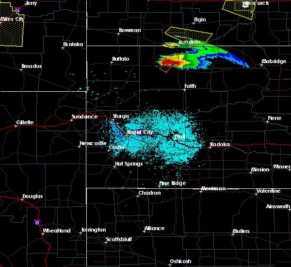 Radar Image for Severe Thunderstorms near Bison, SD at 6/21/2015 7:48 PM MDT