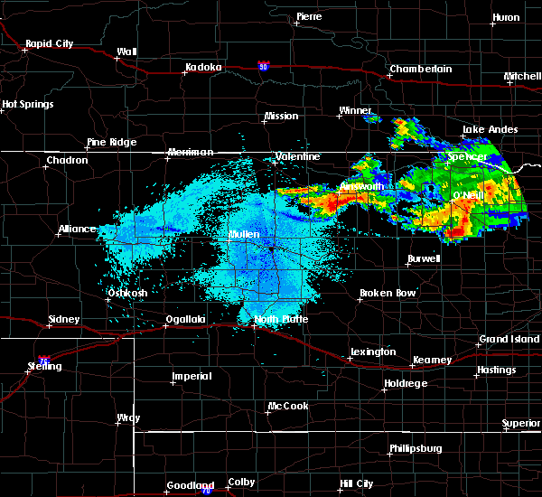 Radar Image for Severe Thunderstorms near Ainsworth, NE at 8/9/2019 10:49 PM CDT