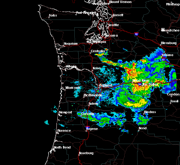 Radar Image for Severe Thunderstorms near Maupin, OR at 8/9/2019 9:06 PM PDT