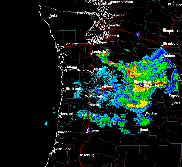 Radar Image for Severe Thunderstorms near Maupin, OR at 8/9/2019 9:10 PM PDT