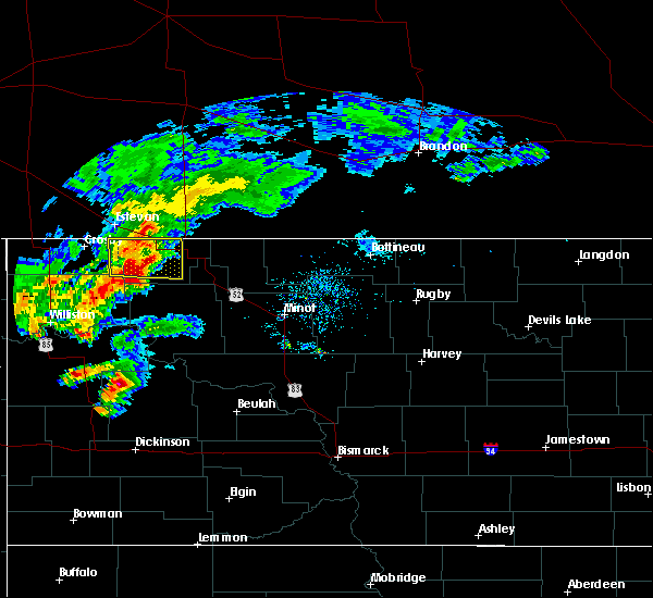 Radar Image for Severe Thunderstorms near Flaxton, ND at 8/10/2019 9:06 AM CDT
