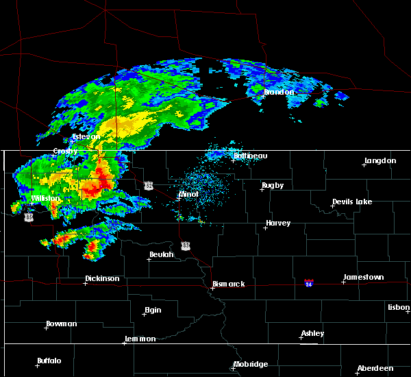 Radar Image for Severe Thunderstorms near Palermo, ND at 8/10/2019 9:54 AM CDT
