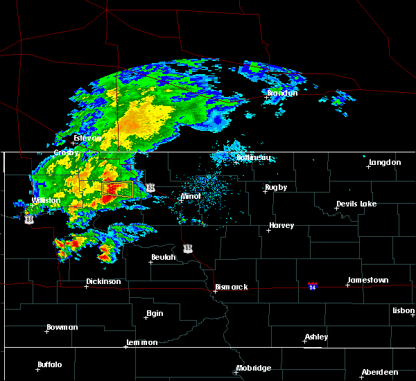 Radar Image for Severe Thunderstorms near Palermo, ND at 8/10/2019 10:10 AM CDT