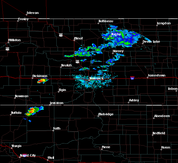 Radar Image for Severe Thunderstorms near Gladstone, ND at 8/10/2019 1:06 PM MDT