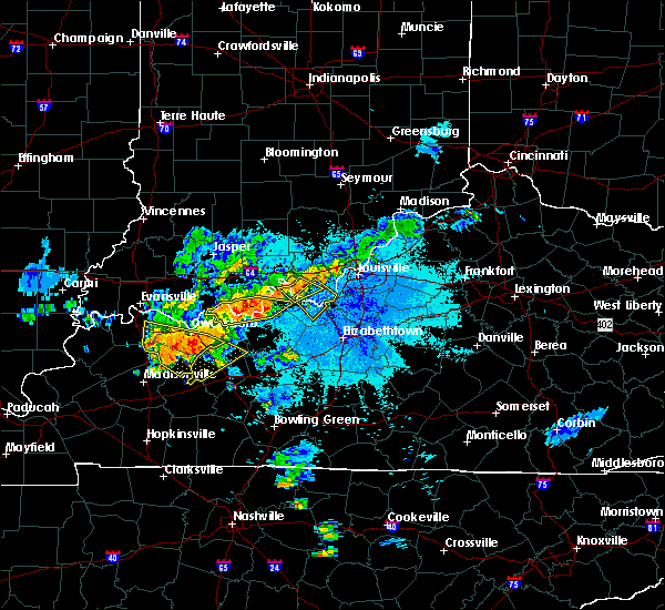 Radar Image for Severe Thunderstorms near Ekron, KY at 6/21/2015 10:03 PM EDT