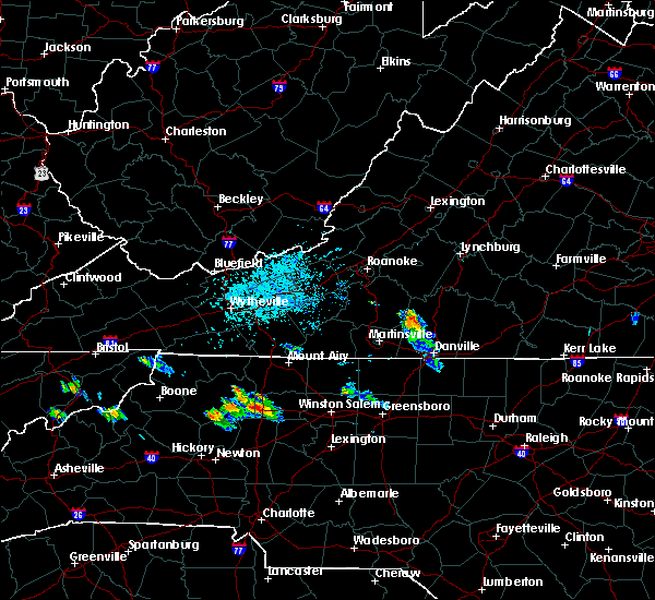 Radar Image for Severe Thunderstorms near Blairs, VA at 8/10/2019 6:15 PM EDT