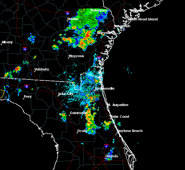 Radar Image for Severe Thunderstorms near Fleming Island, FL at 8/10/2019 6:32 PM EDT