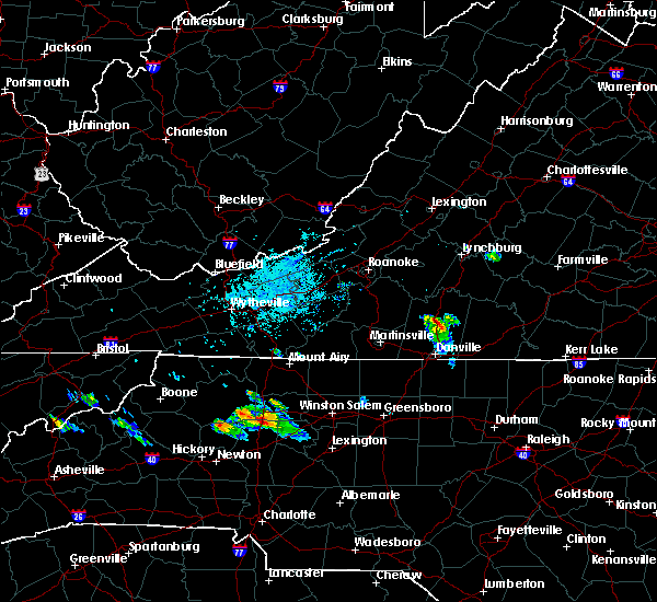Radar Image for Severe Thunderstorms near Blairs, VA at 8/10/2019 6:34 PM EDT