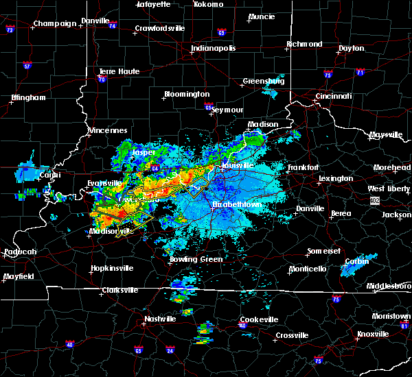 Radar Image for Severe Thunderstorms near Ekron, KY at 6/21/2015 10:18 PM EDT