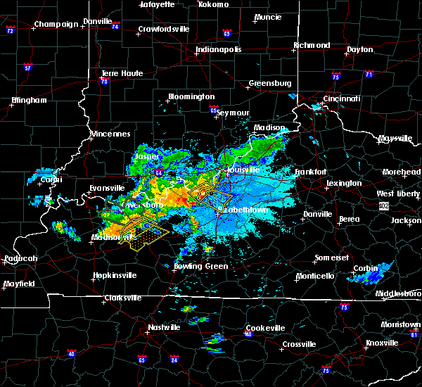 Radar Image for Severe Thunderstorms near Vine Grove, KY at 6/21/2015 10:25 PM EDT
