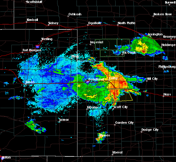 Radar Image for Severe Thunderstorms near Rexford, KS at 8/10/2019 11:33 PM CDT
