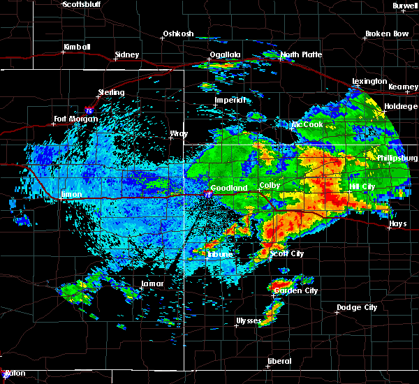 Radar Image for Severe Thunderstorms near Hoxie, KS at 8/11/2019 12:29 AM CDT