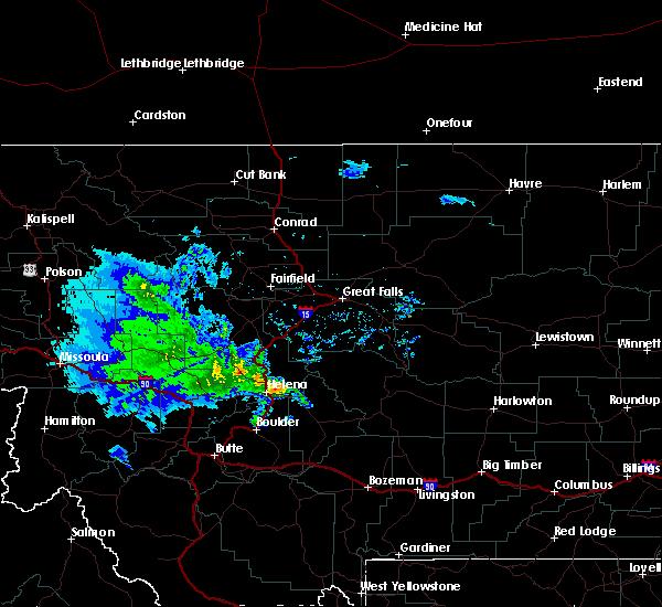 Radar Image for Severe Thunderstorms near Montana City, MT at 8/11/2019 8:16 AM MDT