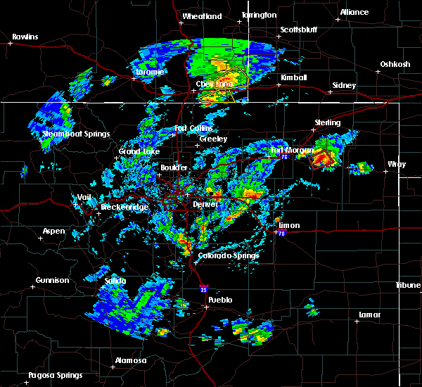 Radar Image for Severe Thunderstorms near Akron, CO at 8/11/2019 3:21 PM MDT
