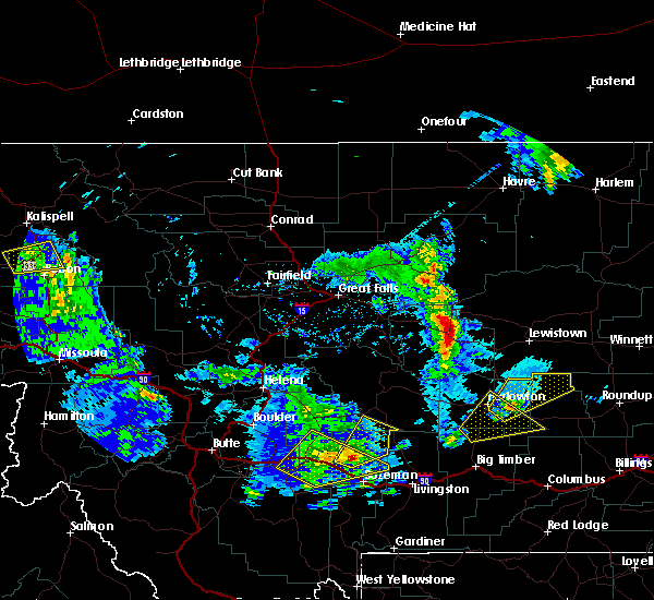 Radar Image for Severe Thunderstorms near Sedan, MT at 8/11/2019 3:45 PM MDT