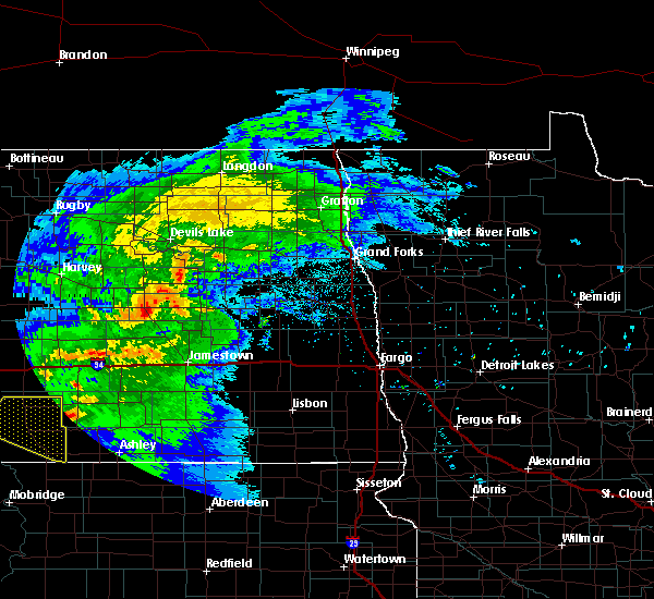 Radar Image for Severe Thunderstorms near McHenry, ND at 6/21/2015 10:06 PM CDT