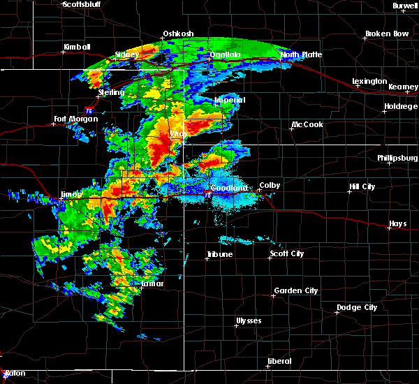 Radar Image for Severe Thunderstorms near St. Francis, KS at 8/11/2019 7:34 PM CDT