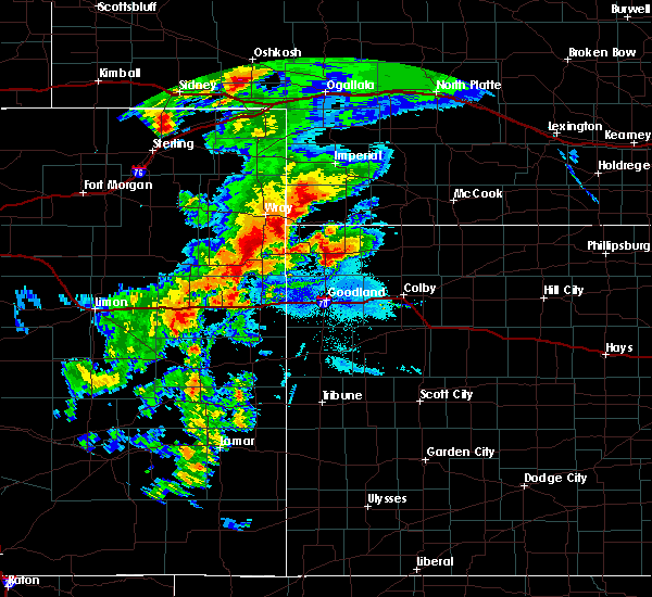 Radar Image for Severe Thunderstorms near Bird City, KS at 8/11/2019 7:46 PM CDT