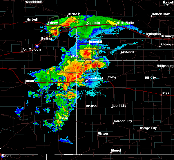 Radar Image for Severe Thunderstorms near St. Francis, KS at 8/11/2019 8:24 PM CDT