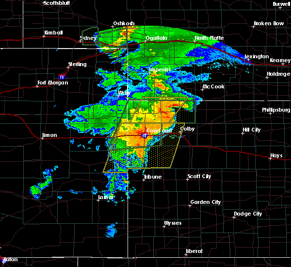 Radar Image for Severe Thunderstorms near Weskan, KS at 8/11/2019 8:06 PM MDT