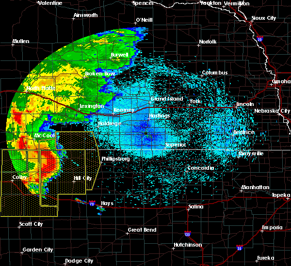 Radar Image for Severe Thunderstorms near Cambridge, NE at 8/11/2019 10:20 PM CDT