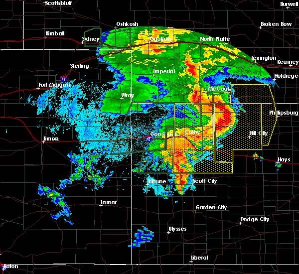 Radar Image for Severe Thunderstorms near Colby, KS at 8/11/2019 10:20 PM CDT