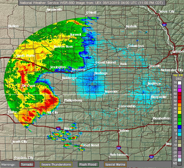 Radar Image for Severe Thunderstorms near Stockton, KS at 8/11/2019 11:02 PM CDT