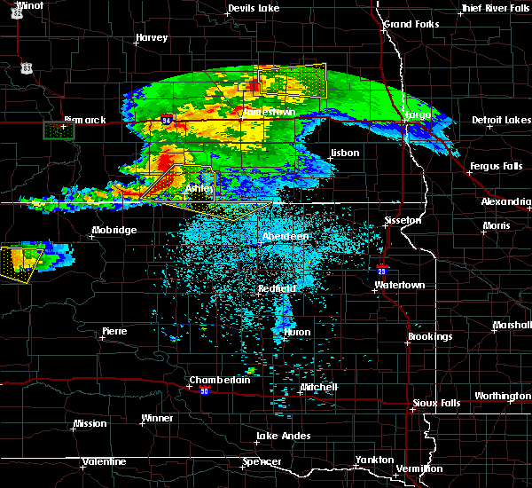Radar Image for Severe Thunderstorms near Monango, ND at 6/21/2015 10:52 PM CDT