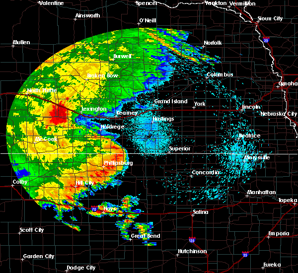 Radar Image for Severe Thunderstorms near Red Cloud, NE at 8/11/2019 11:46 PM CDT