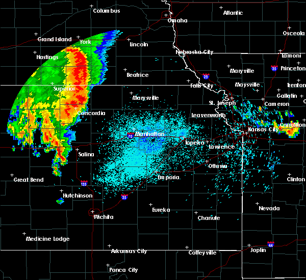 Radar Image for Severe Thunderstorms near Aurora, KS at 8/12/2019 1:35 AM CDT