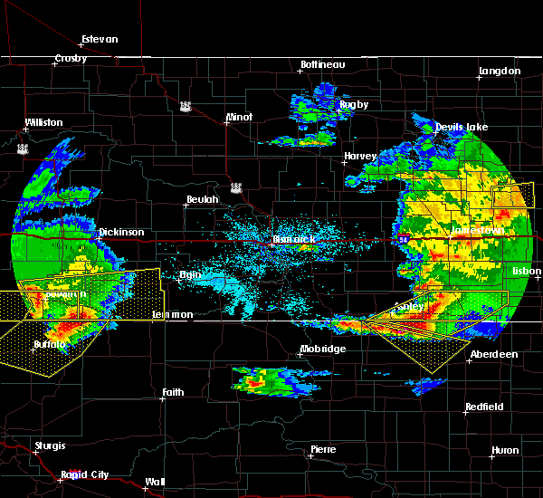 Radar Image for Severe Thunderstorms near Mott, ND at 6/21/2015 10:19 PM MDT