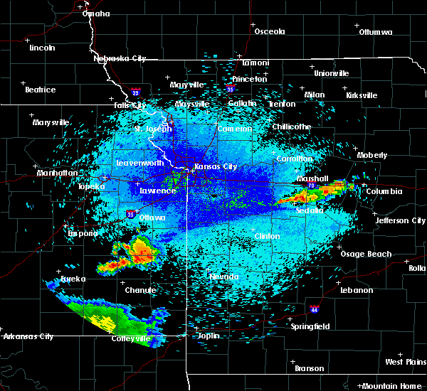 Radar Image for Severe Thunderstorms near Gas, KS at 8/12/2019 11:13 PM CDT