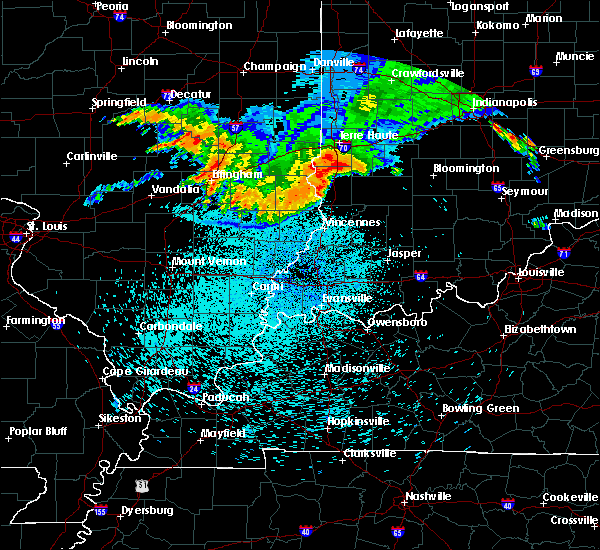 Radar Image for Severe Thunderstorms near Russellville, IL at 8/13/2019 12:59 AM EDT