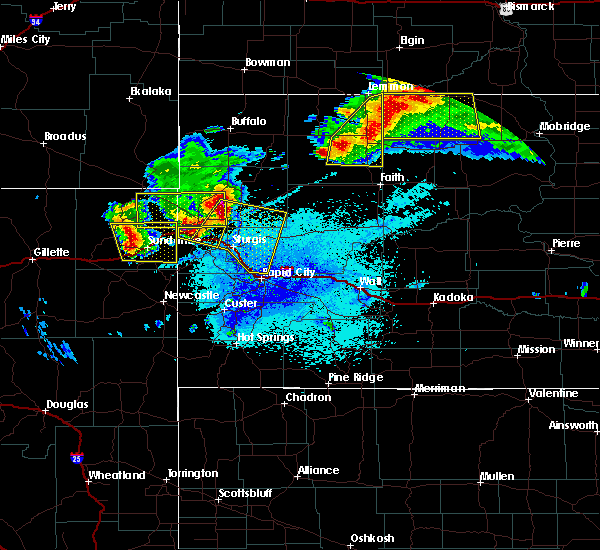 Radar Image for Severe Thunderstorms near Bison, SD at 6/21/2015 11:42 PM MDT