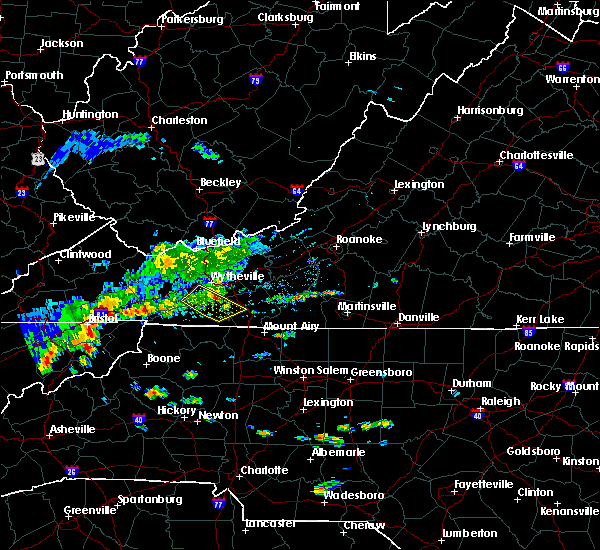Radar Image for Severe Thunderstorms near Galax, VA at 8/13/2019 1:38 PM EDT