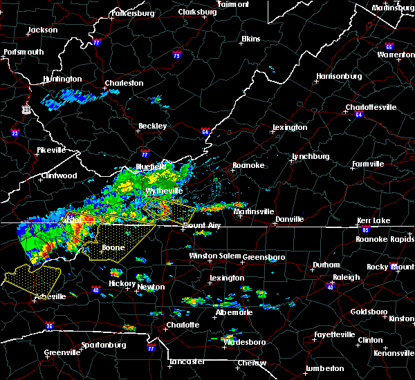Radar Image for Severe Thunderstorms near Boone, NC at 8/13/2019 1:59 PM EDT