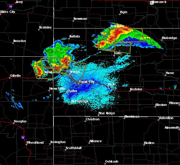 Radar Image for Severe Thunderstorms near Bison, SD at 6/21/2015 11:45 PM MDT