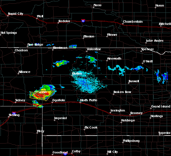 Radar Image for Severe Thunderstorms near Big Springs, NE at 8/13/2019 12:07 PM MDT