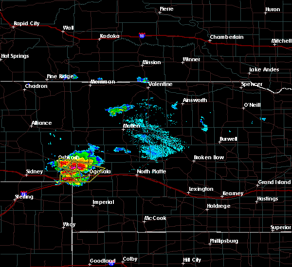 Radar Image for Severe Thunderstorms near Big Springs, NE at 8/13/2019 12:28 PM MDT