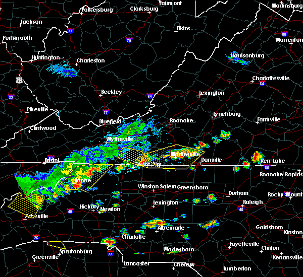 Radar Image for Severe Thunderstorms near Fancy Gap, VA at 8/13/2019 2:44 PM EDT