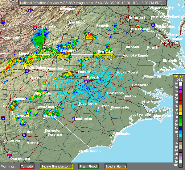 Radar Image for Severe Thunderstorms near Milton, NC at 8/13/2019 3:34 PM EDT