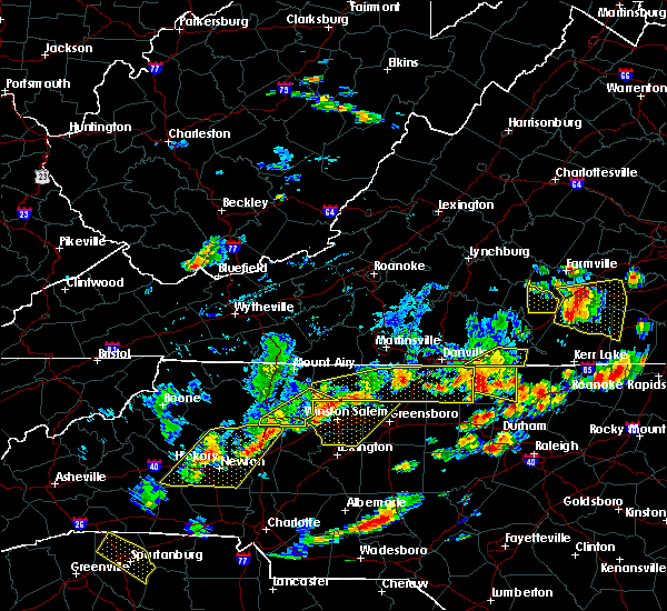 Radar Image for Severe Thunderstorms near Dobson, NC at 8/13/2019 4:06 PM EDT