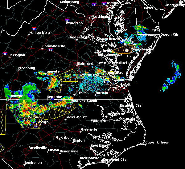Radar Image for Severe Thunderstorms near Newport News, VA at 8/13/2019 4:46 PM EDT